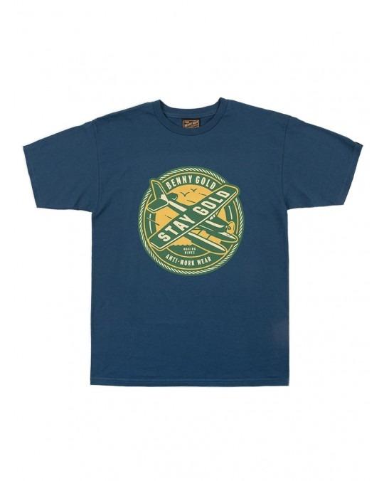 Benny Gold Sea Plane T-Shirt - Harbour Blue