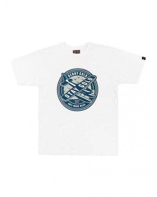 Benny Gold Sea Plane T-Shirt - White