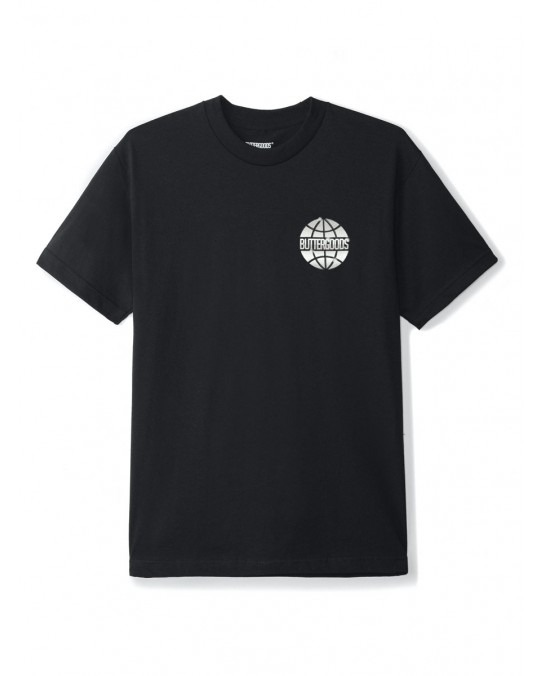 Butter Goods Chrome Worldwide T-Shirt - Black