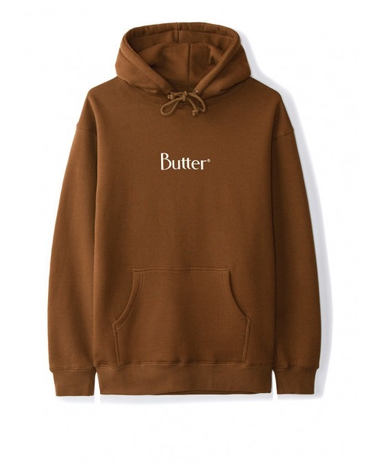 Butter Goods Classic Logo Pullover Hoody - Brown
