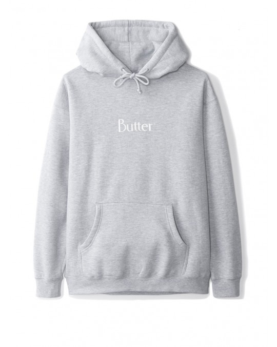 Butter Goods Classic Logo Pullover Hoody - Heather Grey