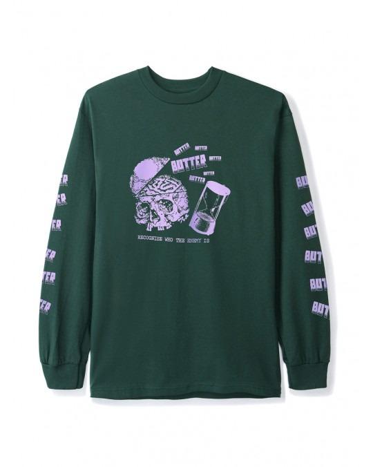 Butter Goods Enemy L/S T-Shirt - Forest Green