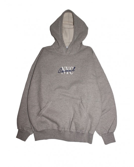 Canal New York Lipstick Pullover Hoody - Heather Grey