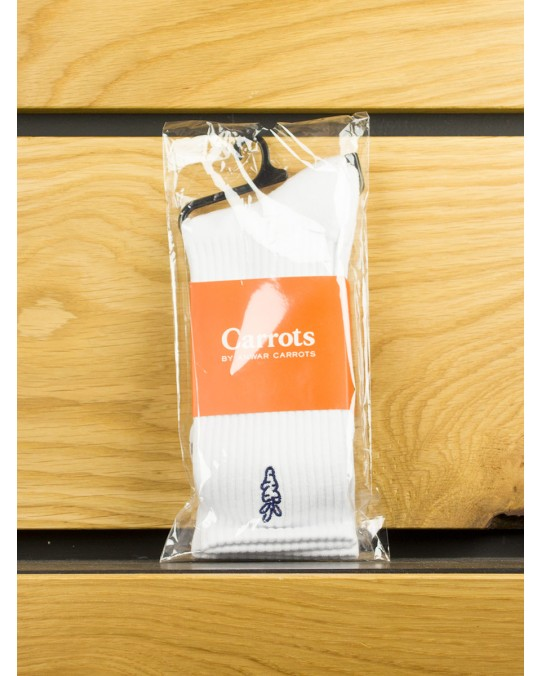 Carrots Logo Socks - White