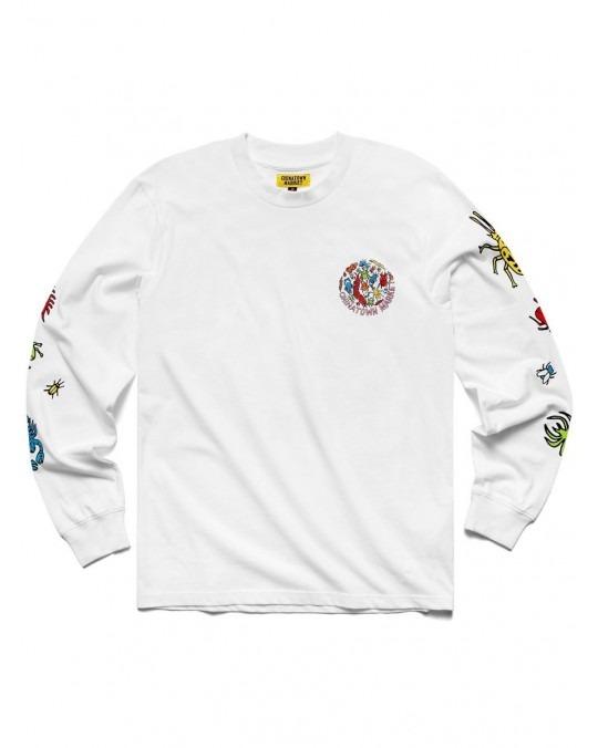 Chinatown Market Bugs L/S T-Shirt - White