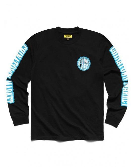 Chinatown Market Globe L/S T-Shirt - Black
