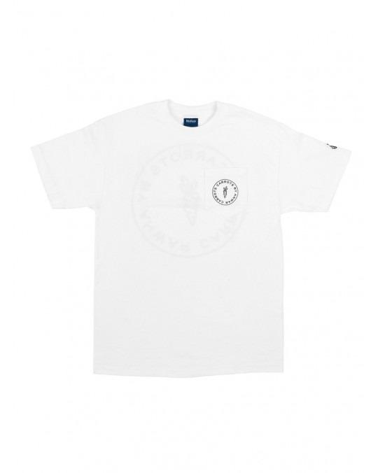 Carrots Circle Logo Pocket T-Shirt - White