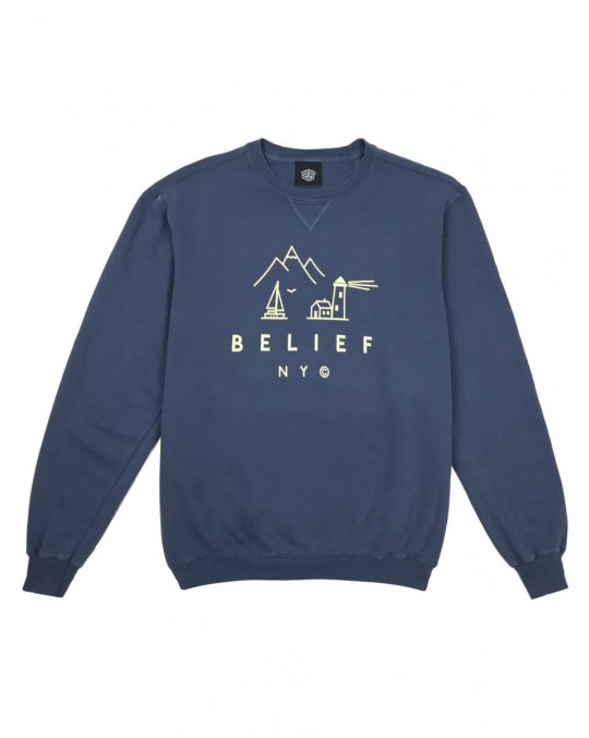 Belief Country Crewneck - Denim