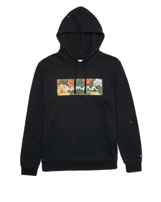 Diamond Supply Co Aloha Floral Box Logo Hoody - Black