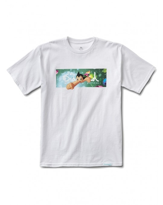 Diamond Supply Co x Astro Boy Box Logo T-Shirt - White