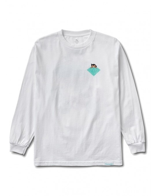 Diamond Supply Co x Astro Boy Brilliant L/S T-Shirt - White