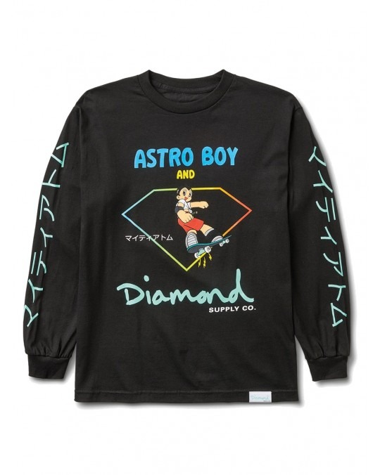 Diamond Supply Co x Astro Boy L/S T-Shirt - Black