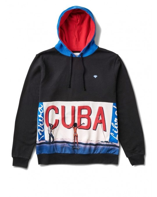 Diamond Supply Co Cuba Pullover Hoody Black