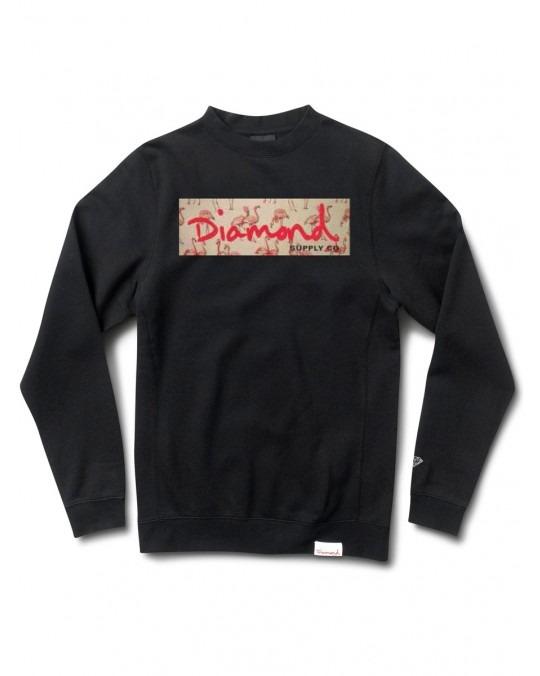 Diamond Supply Co Flamingo Box Logo Crewneck - Black