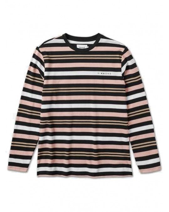 Diamond Supply Co Marquise Striped L/S T-Shirt - Black