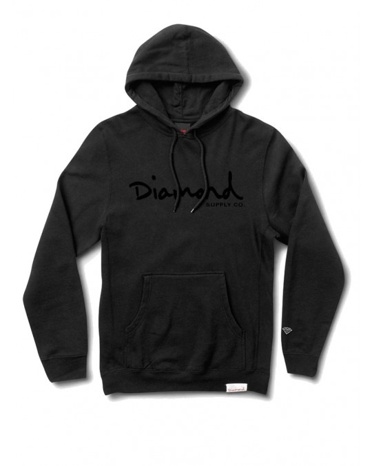 Diamond Supply Co OG Script Pigment Dyed Pullover Hoody - Black