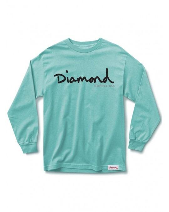 Diamond Supply Co OG Script L/S T-Shirt - Diamond Blue