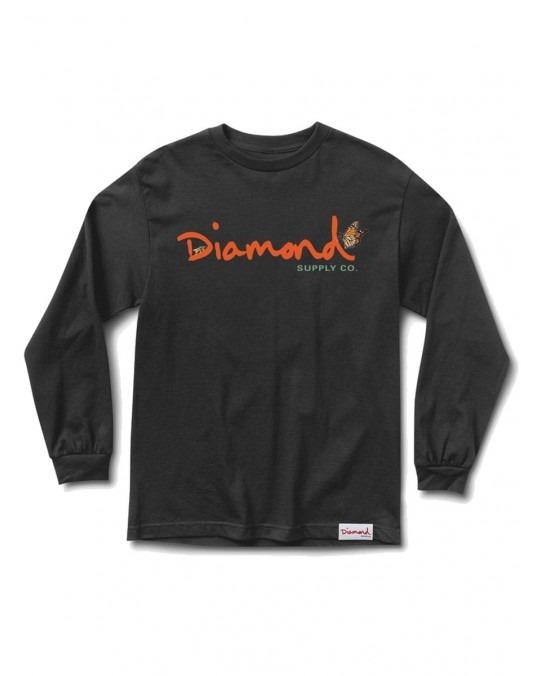 Diamond Supply Co Paradise OG Script L/S T-Shirt - Black