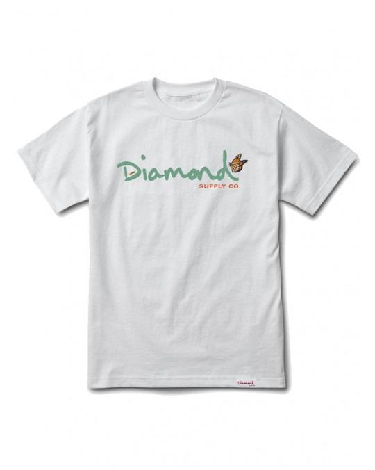 Diamond Supply Co Paradise OG Script T-Shirt - White