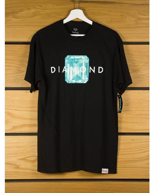 Diamond Supply Emerald Cut T-Shirt - Black Blue
