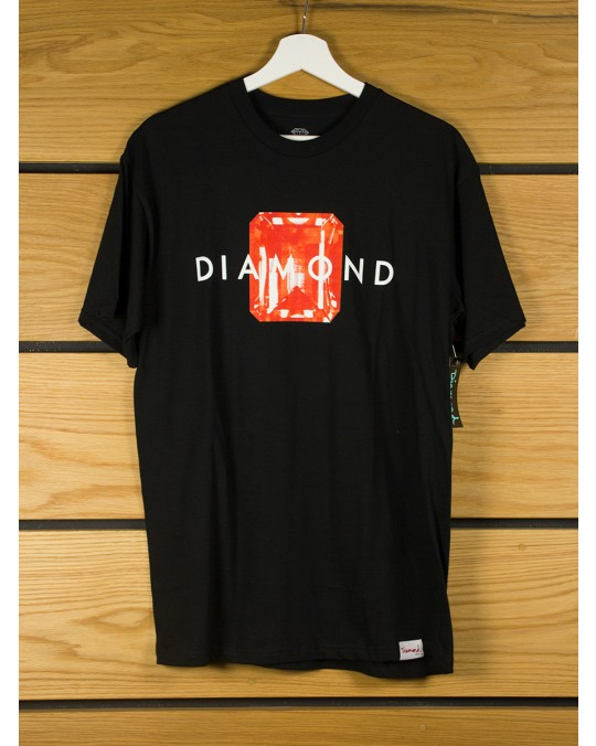 Diamond Supply Emerald Cut T-Shirt - Black Red