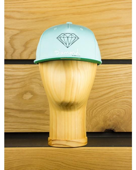 Diamond Supply OG Script Snapback - Diamond Blue