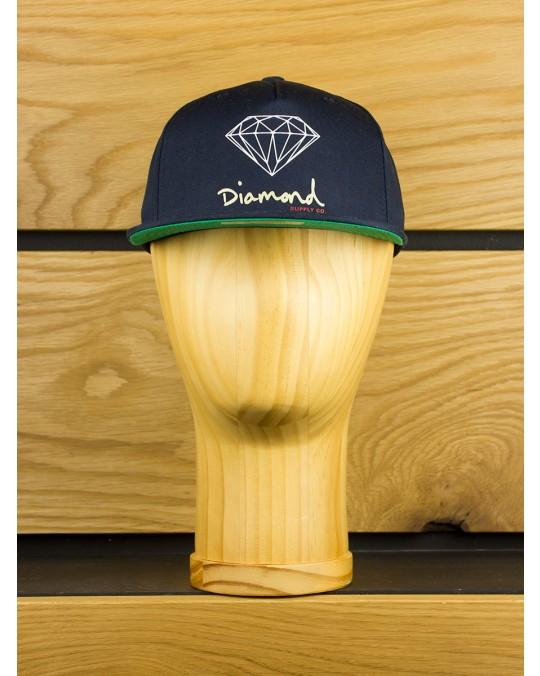 Diamond Supply OG Script Snapback - Navy