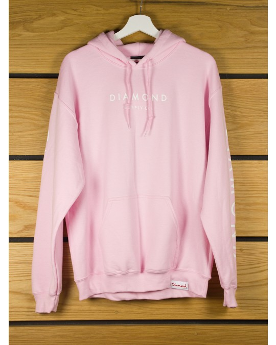 Diamond Supply Stone Cut Pullover Hoodie - Pink