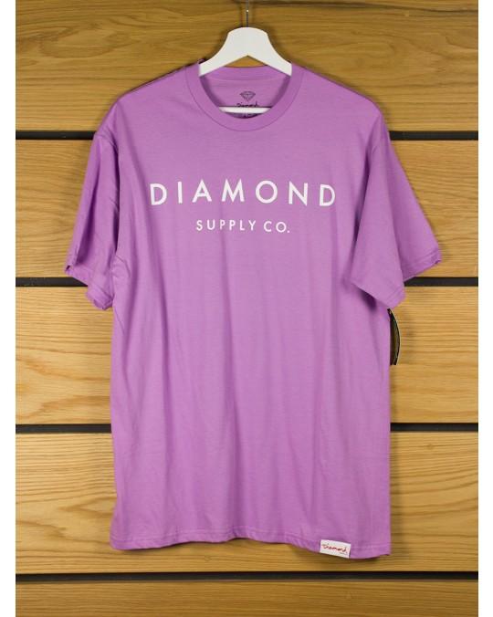Diamond Supply Stone Cut T-Shirt - Lavender