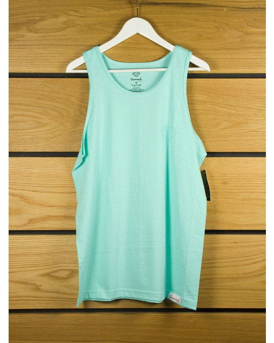Diamond Supply Tonal Chest Brilliant Tank Top - Diamond Blue