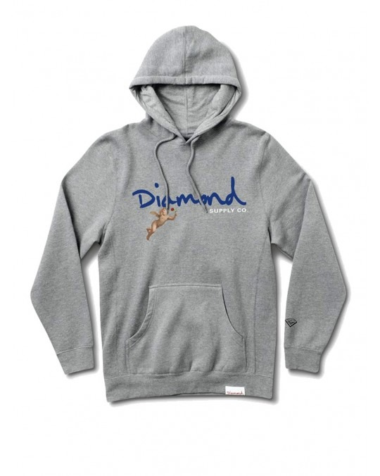 Diamond Supply Co Trinity Pullover Hoody - Heather Grey