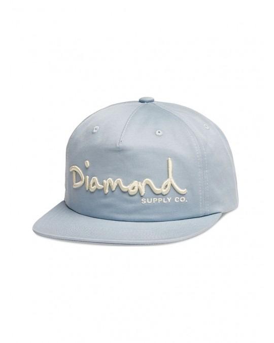 Diamond Supply OG Script Deconstructed Snapback - Blue