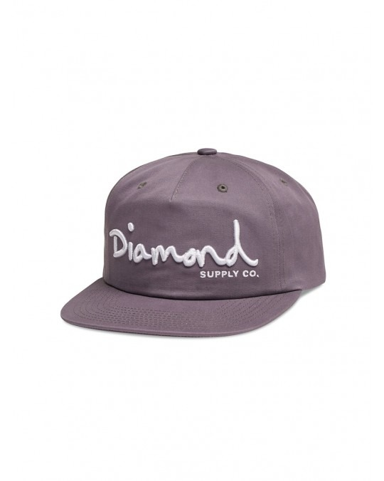 Diamond Supply OG Script Deconstructed Snapback - Purple
