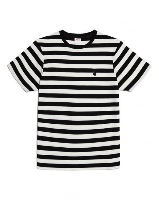 Good Worth & Co x Playboy Bunny Stripe T-Shirt - Black White