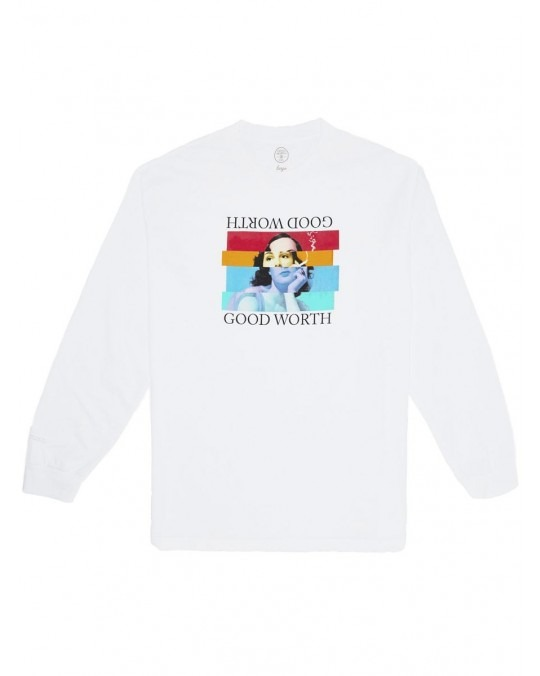 Good Worth & Co Staggered L/S T-Shirt - White