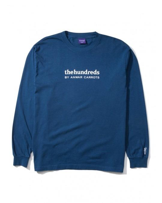 The Hundreds By Anwar Carrots Wordmark L/S T-Shirt - Navy