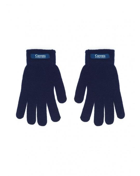 Carrots Knit Gloves - Navy