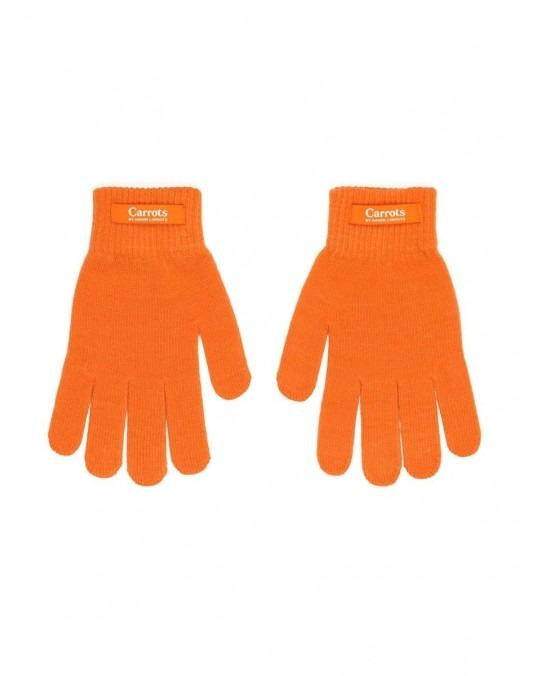 Carrots Knit Gloves - Orange