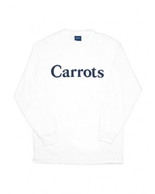 Carrots Wordmark Longsleeve T-Shirt - White