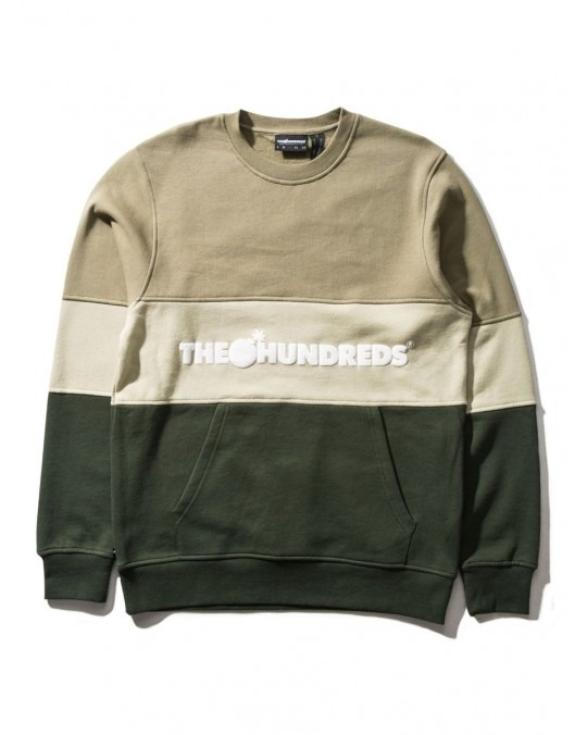 The Hundreds Channel Crewneck - Dusty Olive