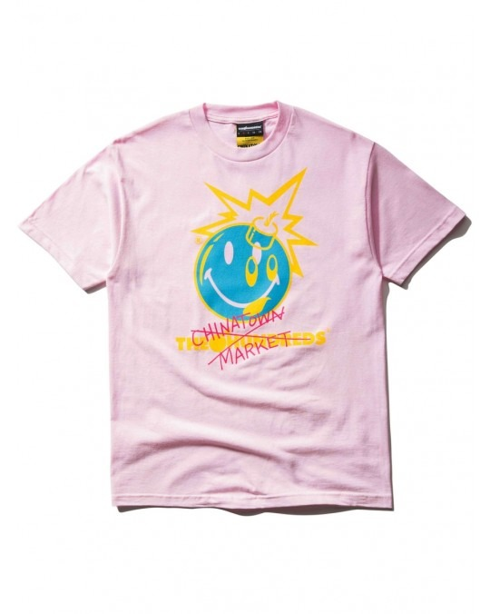 The Hundreds x Chinatown Market Crossout Adam T-Shirt - Pink
