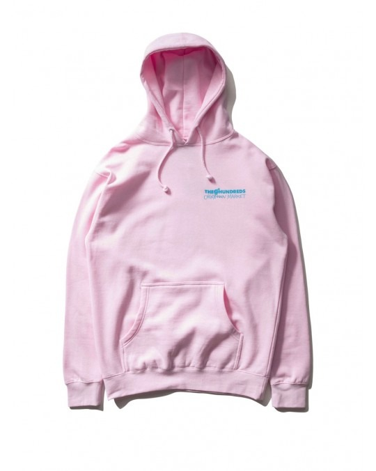 The Hundreds x Chinatown Market Crossout Adam Pullover Hoody - Pink