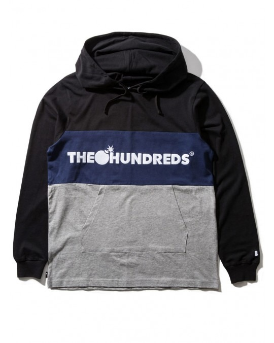 The Hundreds Deck Hooded L/S T-Shirt - Black