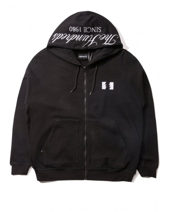 The Hundreds Dubs Zip Up Hoody - Black