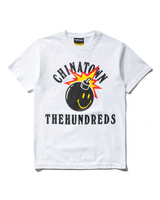 The Hundreds x Chinatown Market Happy Adam T-Shirt - White