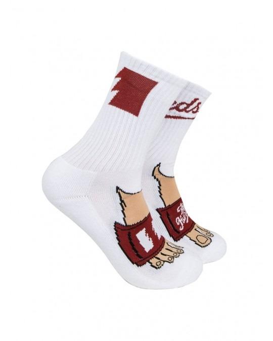 The Hundreds Slide Socks - White