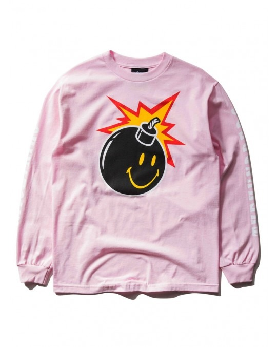 The Hundreds x Chinatown Market Smiley Adam L/S T-Shirt - Pink