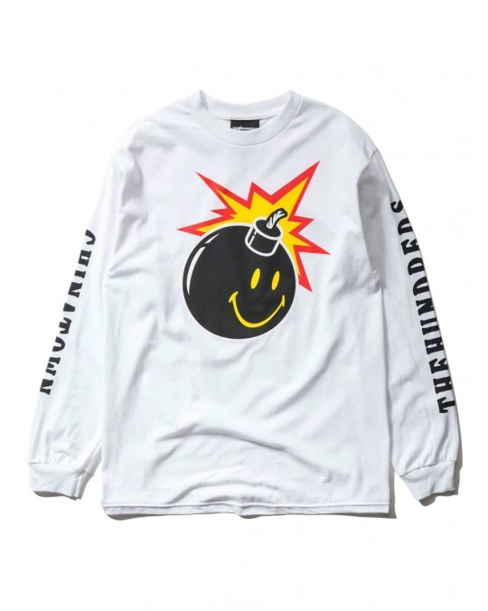 The Hundreds x Chinatown Market Smiley Adam L/S T-Shirt - White