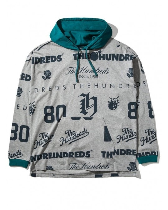 The Hundreds Swap L/S Hooded Knit - Athletic Heather