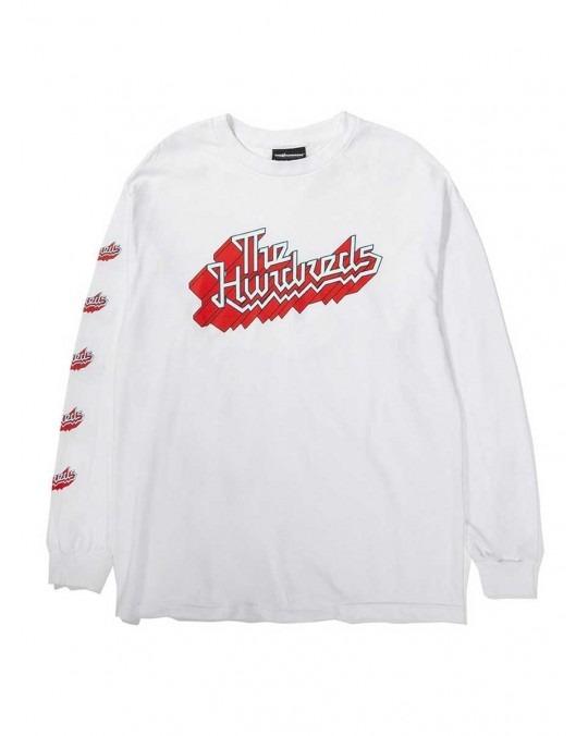 The Hundreds Zag Slant L/S T-Shirt - White